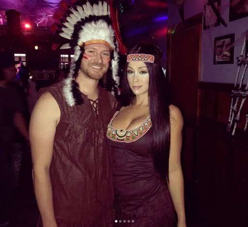 Paola Mayfield and Russ Mayfield, Halloween 2017