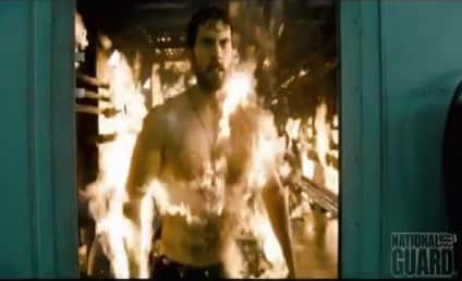 Henry Cavill: Shirtless and Working Out for Man of Steel!