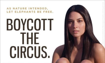 Olivia Munn: Nude for PETA, Circus Safety