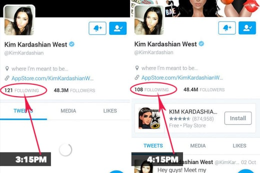 Kim Kardashian Twitter Followers Photo