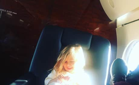 Penelope Disick on a Jet