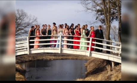 Students Pose for Prom Photo, Collapse Bridge