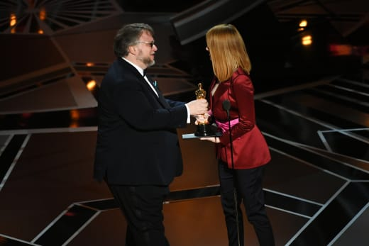Guillermo Del Toro Wins, Awarded by Emma Stone