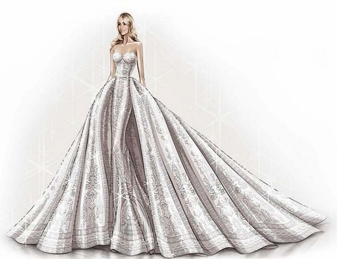 Zuhair Murad Sketches Sofia Vergara Wedding Gown - The Hollywood Gossip