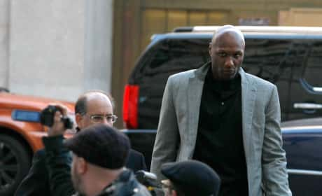 Lamar Odom Attends Custody Hearing For His Kids