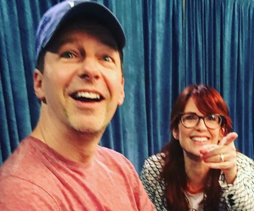 Megan Mullally and Sean Hayes