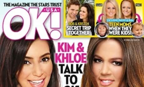 Kim and Khloe Tabloid Kover