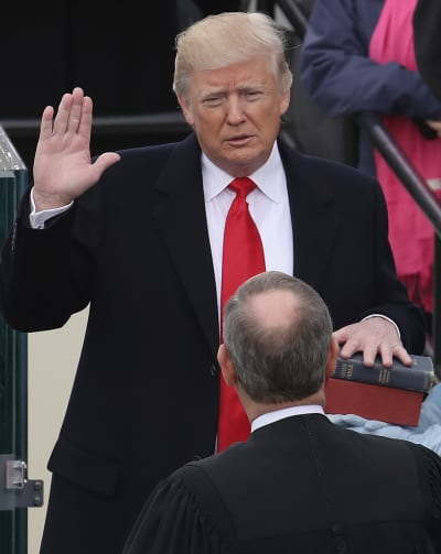 Donald Trump Takes the Oath