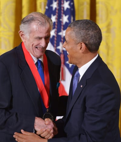 Frank Deford and Barack Obama