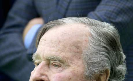 George H.W. Bush in a Wheelchair