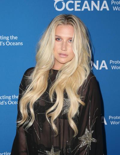 Kesha in black dress