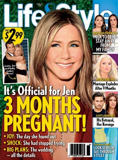 Jennifer Aniston Pregnant Cover Claim
