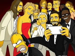 Oscars Selfie with Homer Simpson