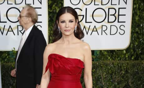 Catherine Zeta Jones at the Golden Globes