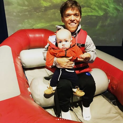 Zach Roloff and Baby Jackson, on a Boat