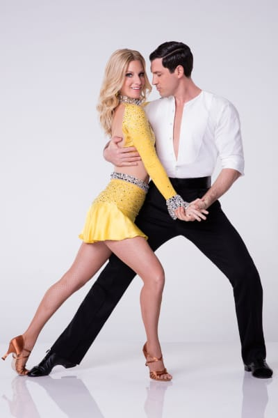 Heather Morris and Maksim Chmerkovskiy