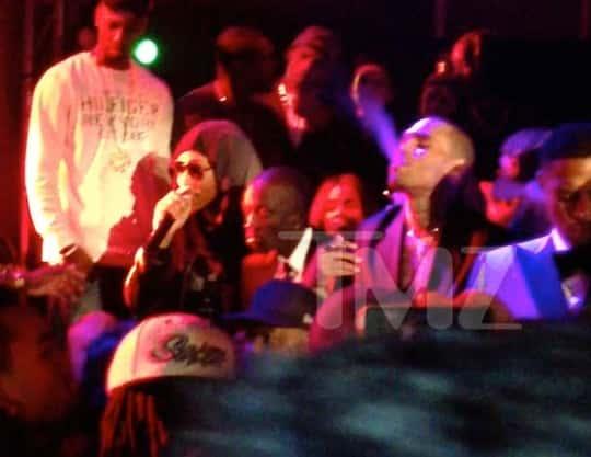 Rihanna and Chris Brown Smoking