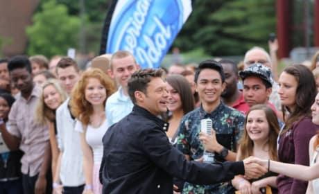 Ryan Seacrest Greets American Idol Season 14 Contestants