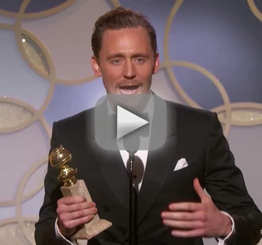 Tom hiddleston mocked slammed for self serving golden globes spe