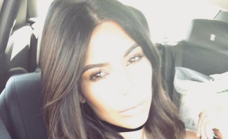 Kim Kardashian in the Car