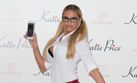 Katie Prices Launches Her App In London