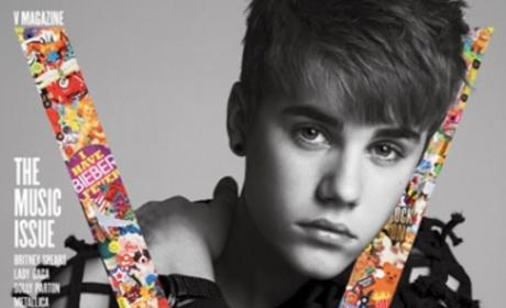 Justin Bieber V Magazine Cover