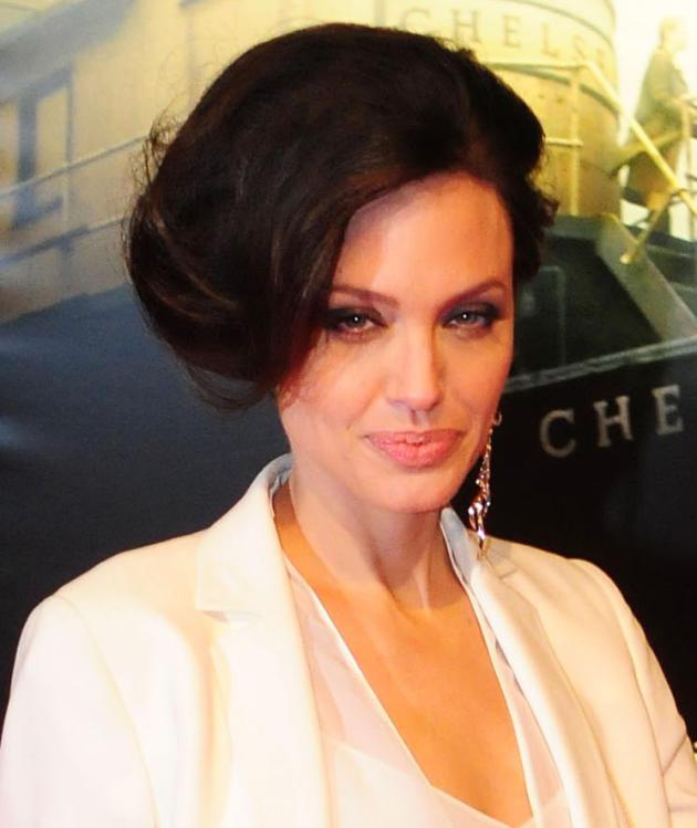 Angelina Jolie Side Hair Bun