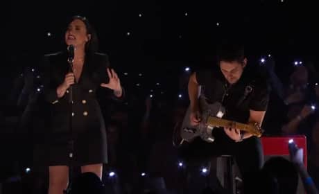 Demi Lovato Teams with Brad Paisley at iHeartRadio Music Awards