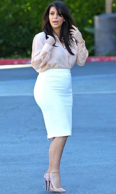 Kim Kardashian and Baby Bump