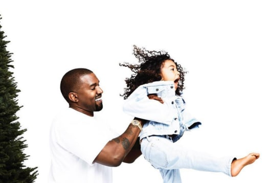 Kanye and Young North