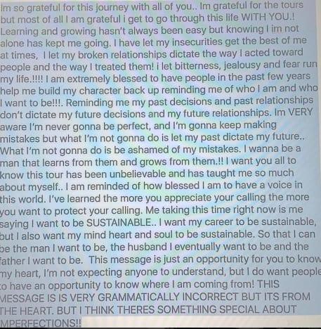 Justin Bieber statement