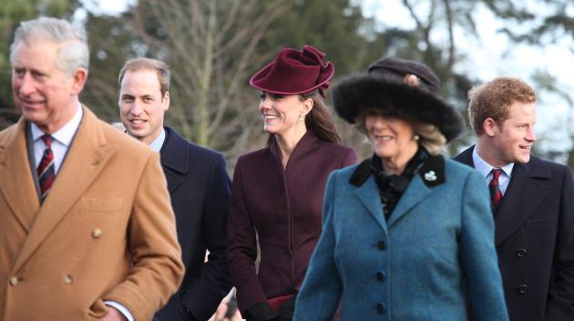 Royal Family on Christmas