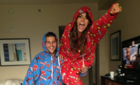Nina Dobrev Pajamas Photo
