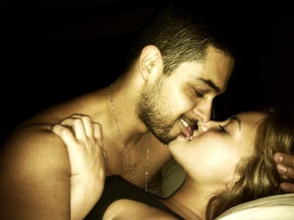 Demi Lovato and Wilmer Valderrama in Bed