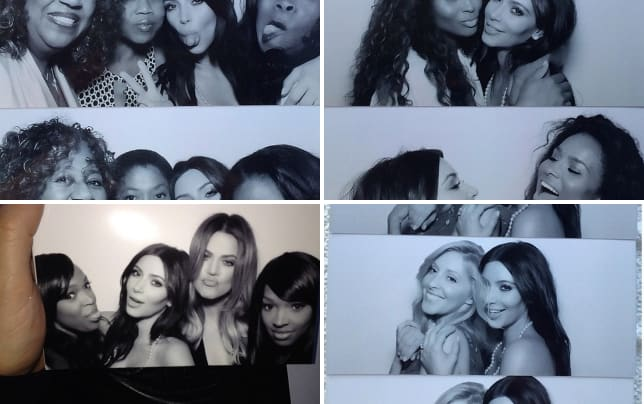 kim kardashian bridal shower pics photo booth fun