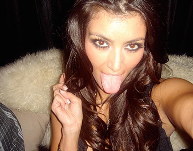 Kim Kardashian Tongue Photo