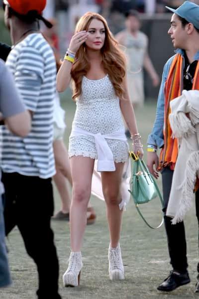 Lindsay Lohan Coachella Photo
