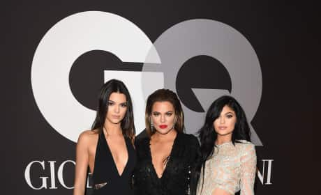 Kendall Jenner, Khloe Kardashian and Kylie Jenner: GQ and Giorgio Armani Grammys After Party