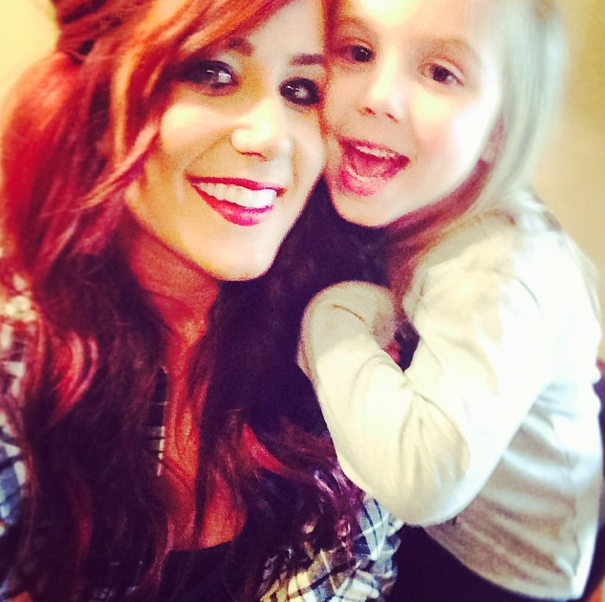Chelsea Houska and Daughter