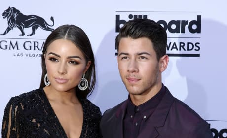 Olivia Culpo and Nick Jonas at Billboard Music Awards