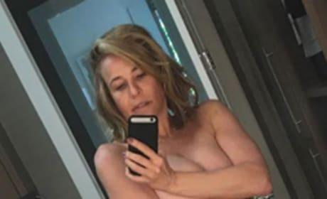 Chelsea Handler nude selfie - cropped