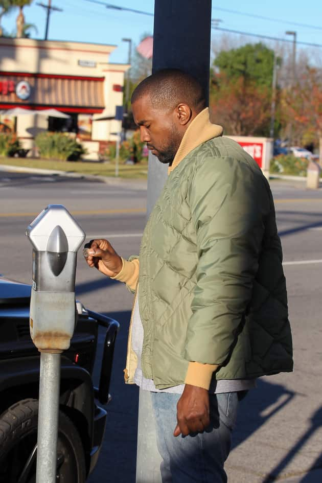 Kanye West at a Parking Meter
