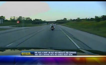 Caught on Camera: Woman Rides Motorcycle Topless, Crashes on Freeway