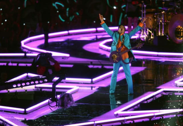 Prince Performs At The 2007 Superbowl Halftime Show