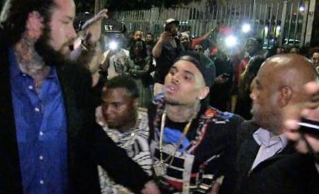 Chris Brown Drunk Leaving Club