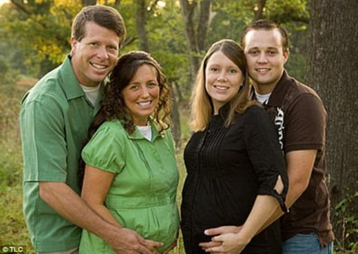 Michelle, Jim Bob, Josh and Anna Duggar