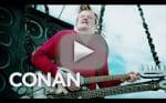 Conan O'Brien Makes Like Mad Max for Comic-Con Arrival