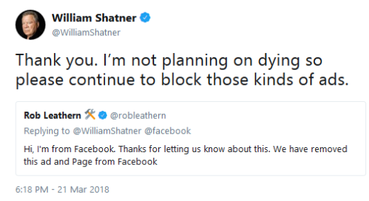 Shatner Death Hoax Tweet 03