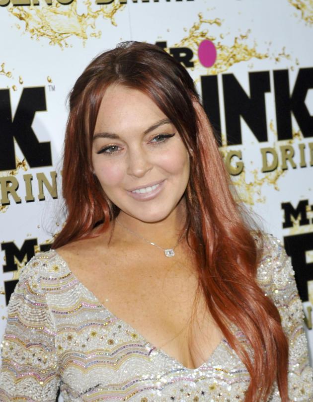 Lindsay Lohan with a Smile