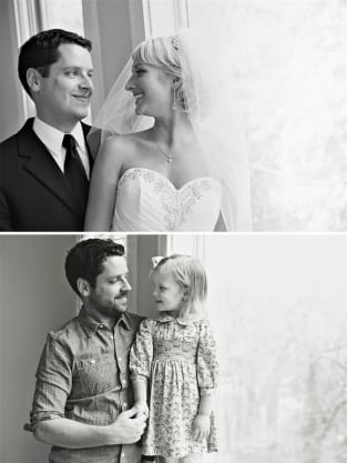 Father and Daughter Recreate Photo Shoot